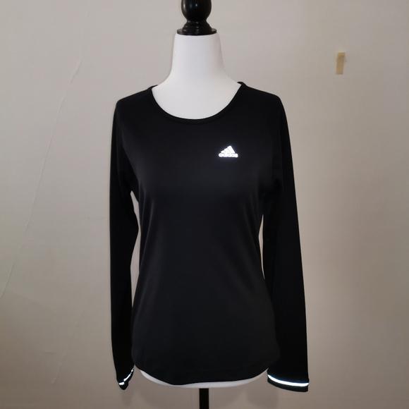 Adidas back long sleeve active wear top